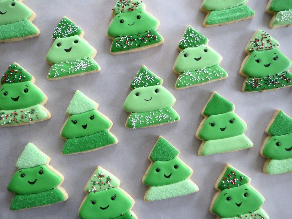 Колачи новогодишни елкички