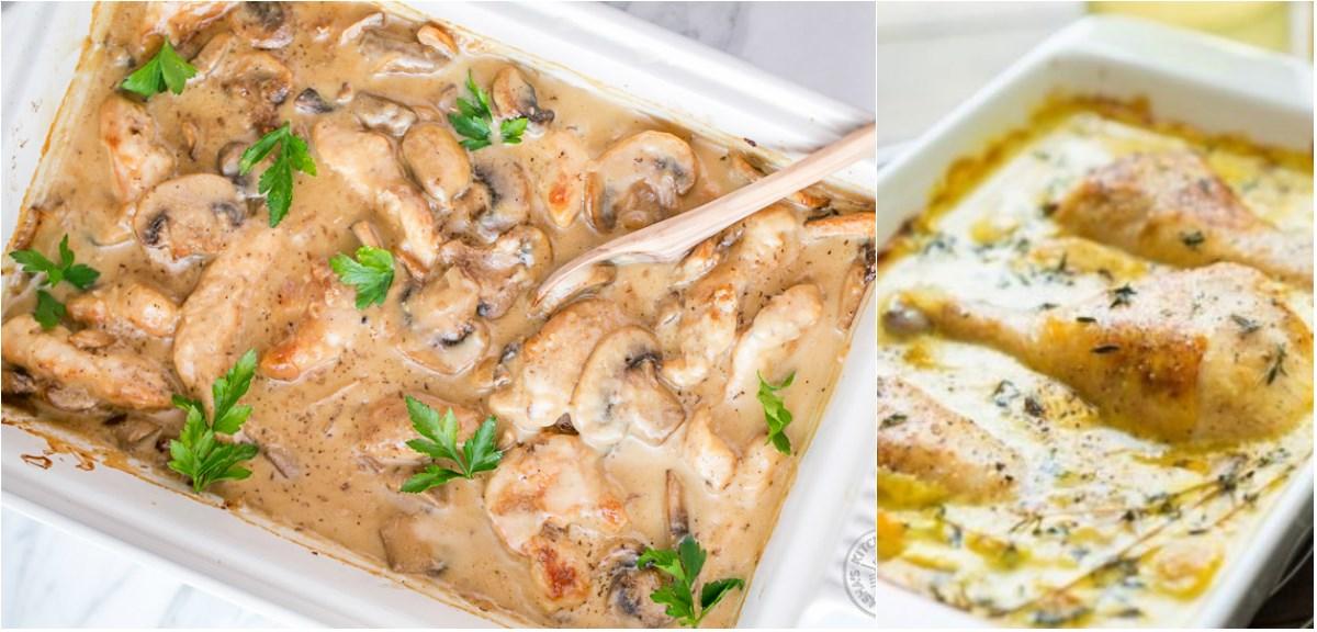 Рецепт за пилешко со шампињони и павлака
