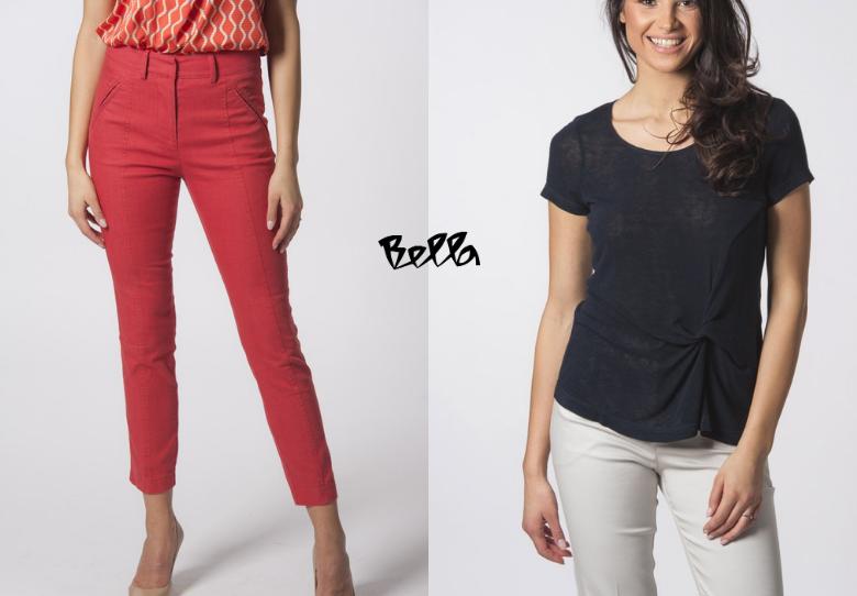 Лежерна викенд комбинација - блуза Пула тегет со фармерки Корал