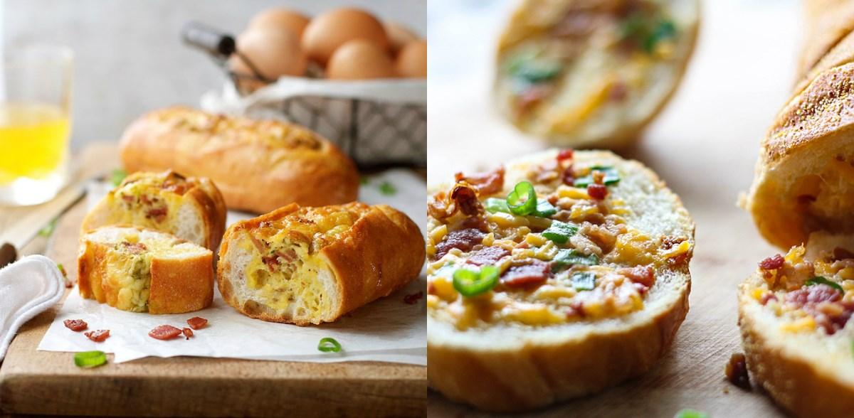 Сочен појадок – француски багет со кашкавал и сланина